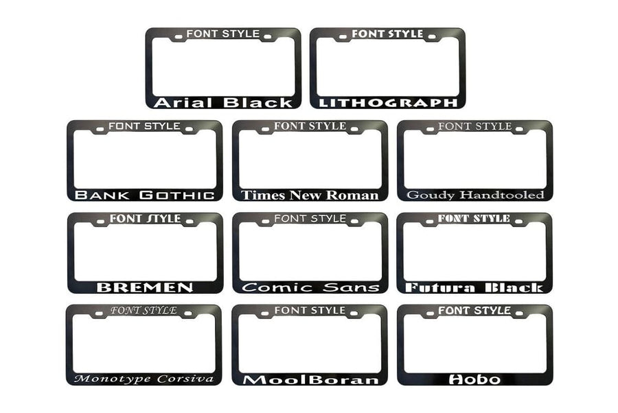 GoTags Pet Breed Personalized License Plate Frame Front Options