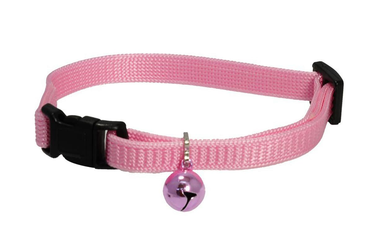 GoTags Pink Breakaway Cat Collar with Bell