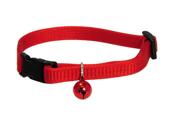 GoTags Red Breakaway Cat Collar with Bell, Safety Cat Collar