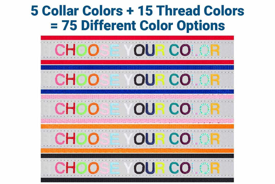 GoTags Collar and Thread Color Options