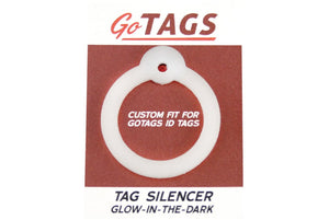 GoTags Round Shape Pet ID Tag Silencer