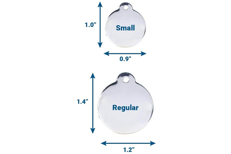 GoTags Round Pet Tag Sizes