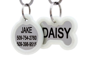 GoTags Stainless Steel Silent Pet ID Tag with Silencer