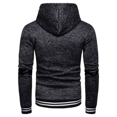 Mens Casual Cotton Long Sleeve Fashion Hooded Sweatshirt - Slabiti