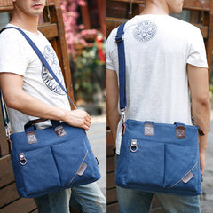 Vintage Canvas Handbag Shoulder Bag Crossbody Bag Messenger Bag For Men - Slabiti