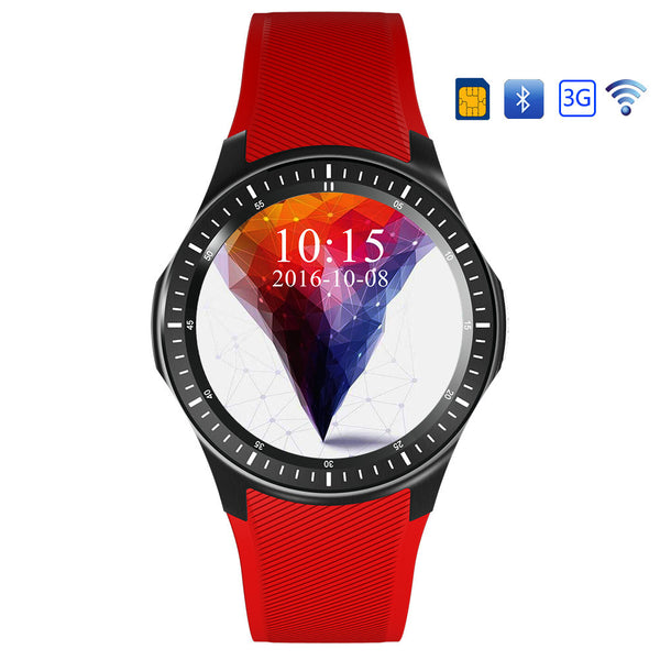 DM368 1.39 Inch Display Android 5.1 SIM MTK 6580 Quad Core bluetooth Heart Rate Monitor Smart Watch - Slabiti