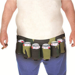 6 Pack Beer Soda Belt Drinks Beer Belt Holder Bottlr Carrier For Outdoor Camping Party - Slabiti