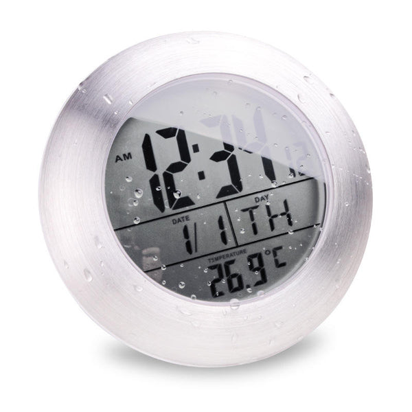 Emate Bathroom Waterproof Temparture Sensor Electronic Digital Clock With Sucker And Bracket - Slabiti