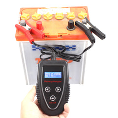 FOXSUR 12V 7V-15V LCD Battery Tester Analyzer Digital Motorcyclce Car Gel AGM WET CA SLA CCA IR SOH Batteries Professional Diagnostic Tool - Slabiti