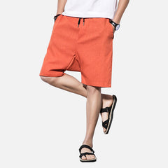 Mens Summer Casual Cotton Pattern Printed Shorts - Slabiti