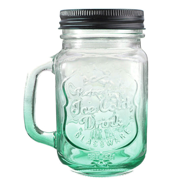 Fashion Graduated Color Glass Drinking Jar Cup Bottle 500ml - Slabiti