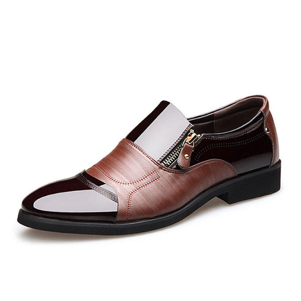 Men Comfy Pointed Toe Leather Business Formal Shoes - Slabiti