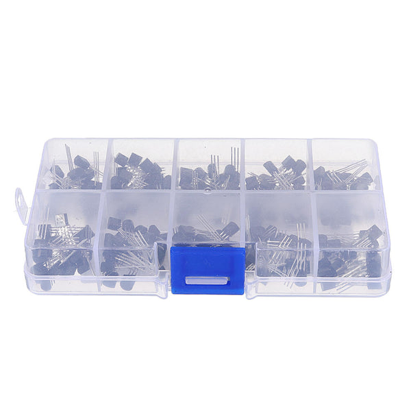 1000pcs 10 Values 100 Each TO-92 Transistor Assortment Assorted Kit BC327 BC337 BC517 BC547 BC548 BC549 BC550 BC556 BC557 BC558