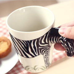 Handmade 3D Animal Shape Coffee Milk Tea Mug Ceramic Water Cup Festival Birthday Gift - Slabiti