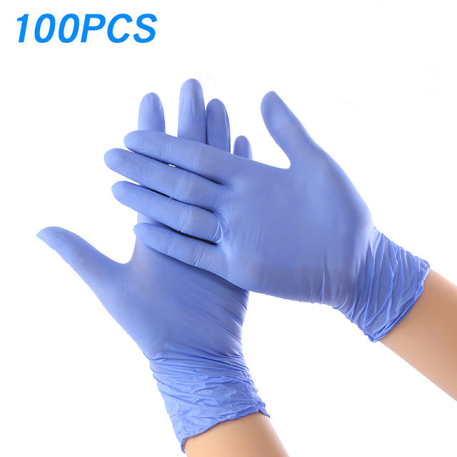 100PCS Disposable Medical Grade Exam Nitrile Glove for Examination FDA Food Anti infection Laboratory Electronics Working Gloves - Slabiti
