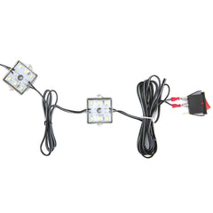 12V 8pcs Waterproof 5630 SMD Truck Bed Work Box LED Reading Marine Light Interior With Switch White Beam 6000K - Slabiti