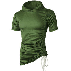 Mens Fashion Hooded Cotton Short Sleeve Casual T-shirts - Slabiti