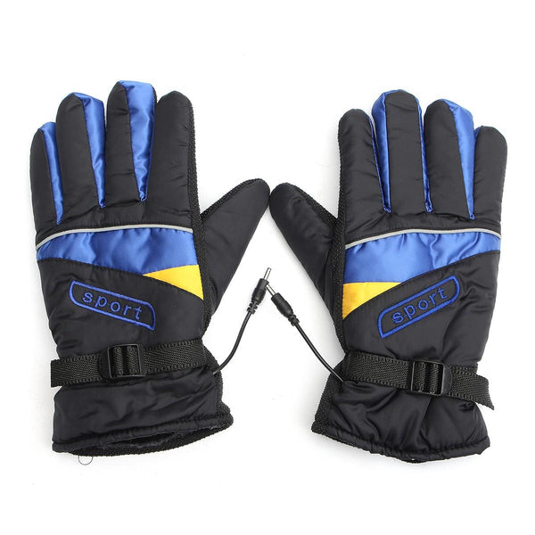 12V/48V/60V Waterproof Electric Heated Gloves Winter Inner Warmer Motorcycle Ski Racing - Slabiti