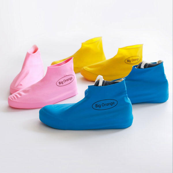 Disposable Silica Gel Rain Shoe Cover Rain Boots Waterproof Overshoes Durable Dustproof Shoes Storage Case - Slabiti