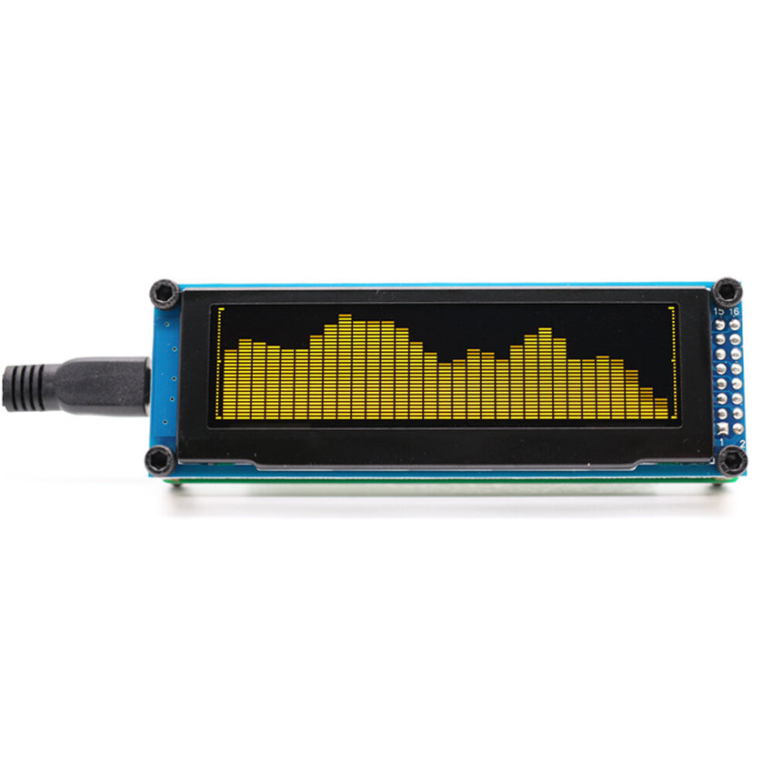 AK2132-PRO OLED Music Audio Spectrum Indicator Amplifier Speed Adjustable AGC Mode 15 Level - Slabiti