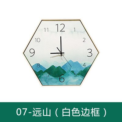 19inch Large Big Creative hexagon clock, simple fashion personality quartz watch, Nordic style living room decoration Clock - Slabiti