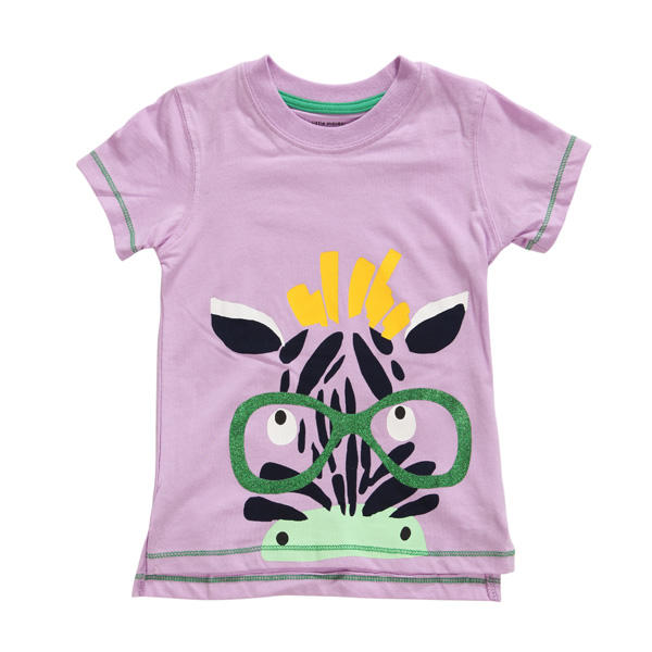 2015 New Little Maven Summer Baby Girl Child Zebra Pink Cotton Short Sleeve T-shirt Tee - Slabiti