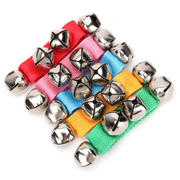 4Pcs Baby Kids Wrist Ankle Bell 4 Jingle Bell Strap Bracelet Early Musical Toys - Slabiti