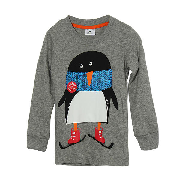 2015 New Little Maven Lovely Penguin Baby Children Boy Cotton Long Sleeve Top - Slabiti