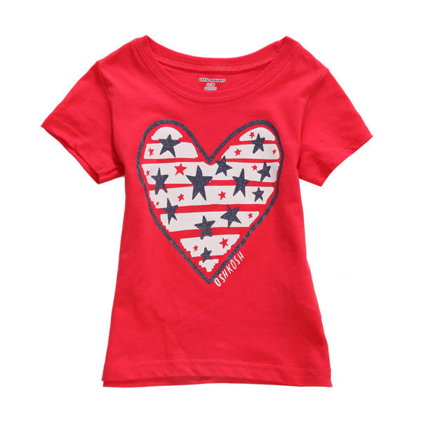 2015 New Little Maven Summer Baby Girl Children Heart Red Cotton Short Sleeve T-shirt - Slabiti