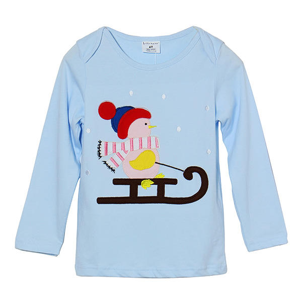 2015 New Little Maven Lovely Snowman Baby Children Boy Cotton Long Sleeve Top - Slabiti