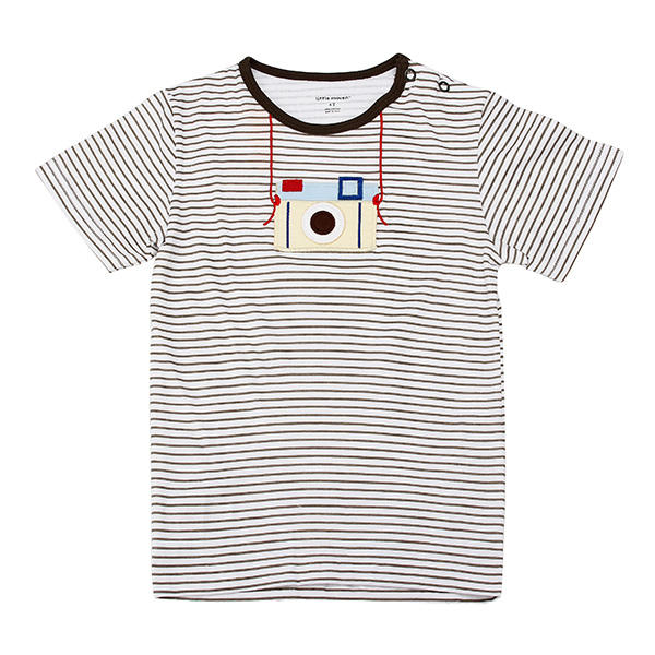 2015 New Little Maven Lovely Camera Baby Children Boy Cotton Short Sleeve T-shirt Top - Slabiti