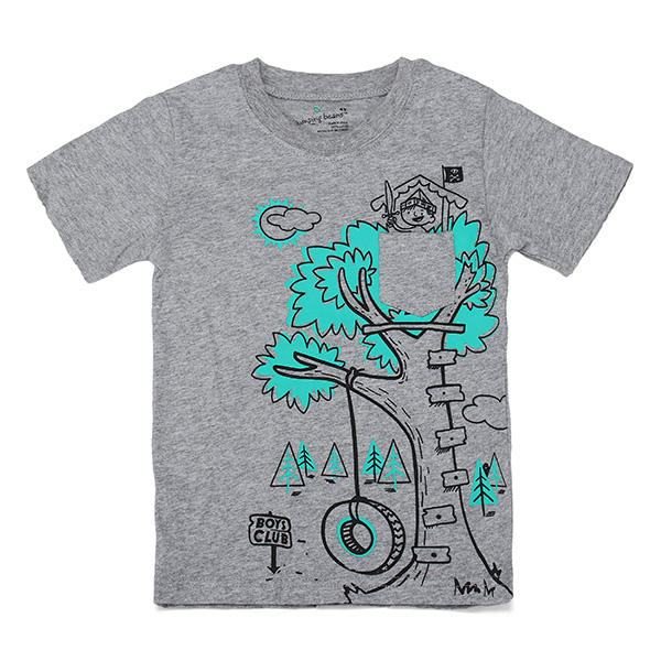 2015 New Little Maven Lovely Tree Baby Children Boy Cotton Short Sleeve T-shirt Top - Slabiti
