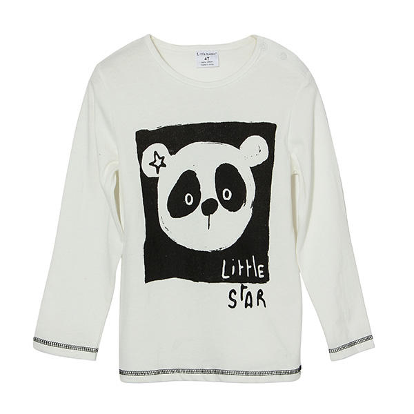 2015 New Little Maven Lovely Panda Baby Children Boy Cotton Long Sleeve Top - Slabiti