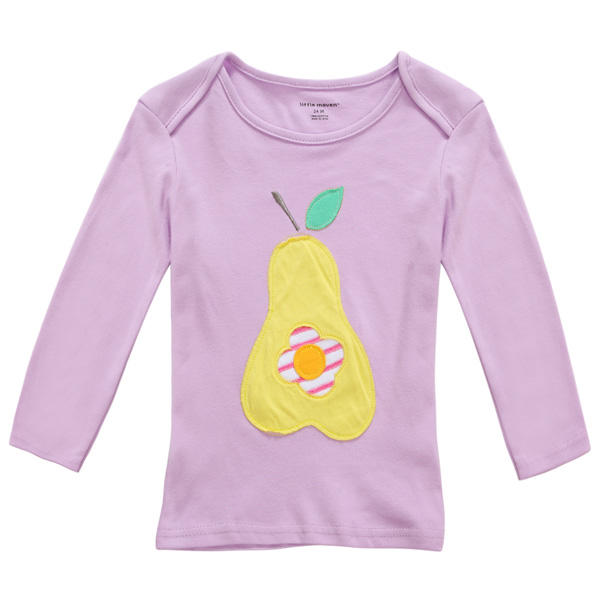 2015 New Little Maven Summer Baby Girl Children Pear Purple Cotton Long Sleeve T-shirt - Slabiti