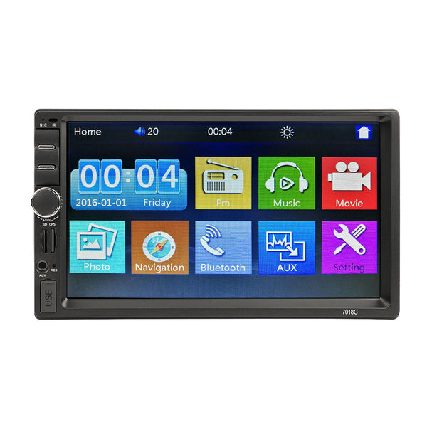 7 Inch GPS HD Touch Screen MP5 Player bluetooth FM RDS Quick Charge Mirror Link Cam - Slabiti