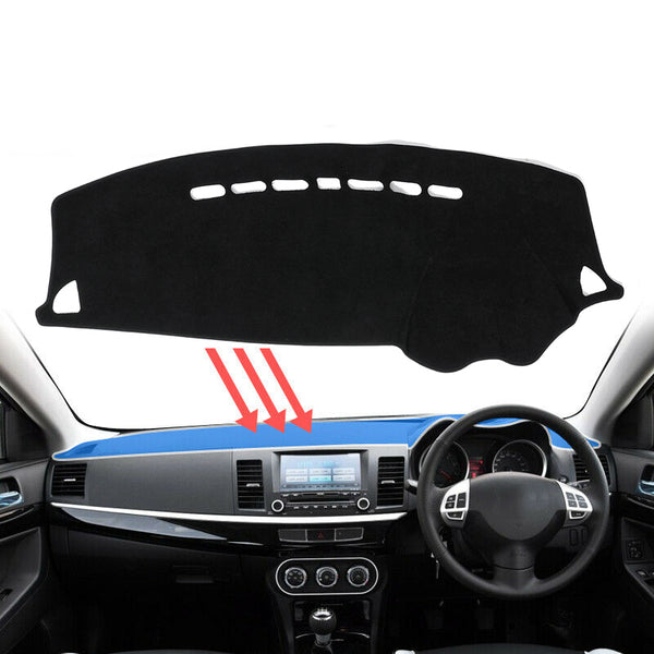 Dash Mat Dashmat Carpet Cover For Mitsubishi Lancer 2008~2016 Dashboard Cover - Slabiti