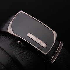 Men's Belts Luxury Genuine Leather Cowskin Belt Automatic Buckle Male Waist Strap - Slabiti