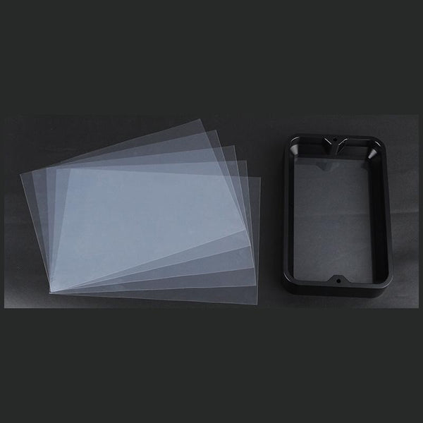 147.5*96mm Anodized Aluminium Resin Vat Material Rack With 5PCS FEP Film For Photon Light Curing 3D Printer - Slabiti