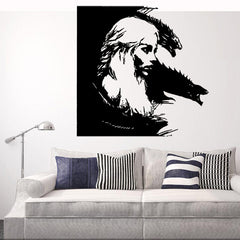 Game Of Thrones Daenerys Targaryen Dragon Mother Portrait Engraved Wall Stickers - Slabiti