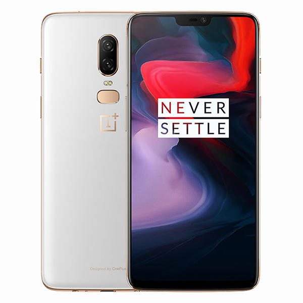 OnePlus 6 6.28 Inch White 19:9 AMOLED NFC Android 8.1 8GB RAM 128GB ROM Snapdragon 845 4G Smartphone - Slabiti