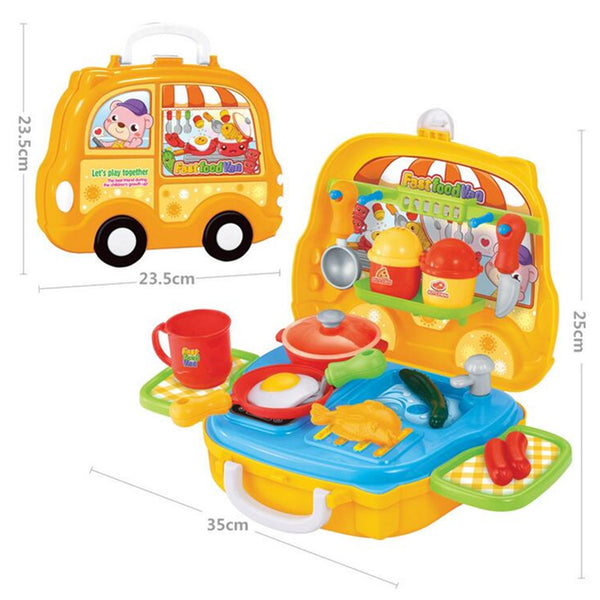 Pretend Play Set Kids Dream Suitcase Educational Role Play Boys Girls Blocks Toys Set - Slabiti