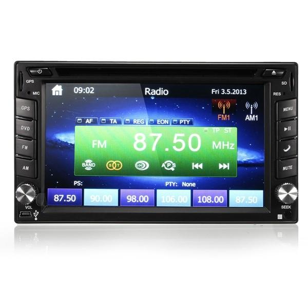 GPS Navigation HD 2DIN 6.2 Inch Car Stereo DVD Player bluetooth iPod MP3 Camera - Slabiti