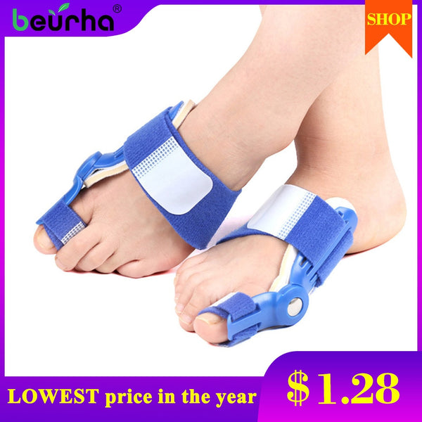 1pc Foot Big Toe Thumb Bunion Corrector Splint Toe Straightener Foot Pain Relief Hallux Valgus Thumb Correction Day or night use - Slabiti
