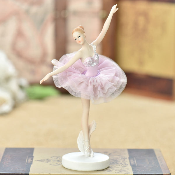 1pcs modern Resin Ballet girl Creative Dancer miniature figurines table top arts and crafts home decoration birthday present