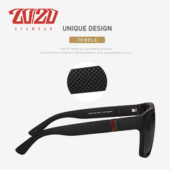 20/20 Brand Design Retro Polarized Sunglasses Men Driving Shades Male Vintage Square Sun Glasses For Men Oculos Eyeglasses PL363 - Slabiti