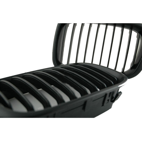 Black Front Grille for 02-05 BMW E46 3 Series 4door - Slabiti