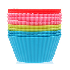 10Pcs Silicone Round Cake Muffin Chocolate Molds Cup Cake Cups - Slabiti