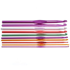 22Pcs Aluminum Crochet Knitting Needles Weave Craft Set