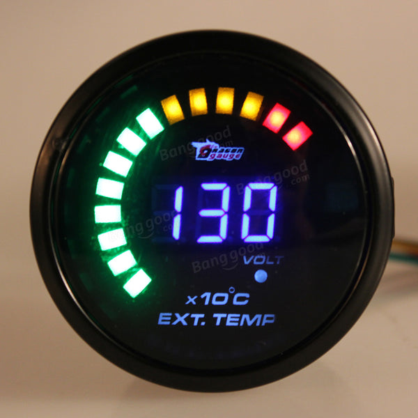 Auto CAR Analog LED Digital Exhaust Gas Temp Temperature EGT Gauge - Slabiti