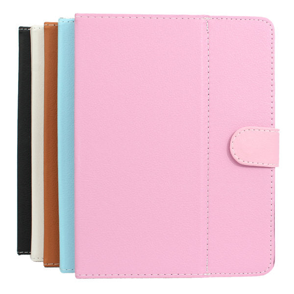 Folio Leather Case Pouch With Folding Stand For 8 Inch Tablet - Slabiti